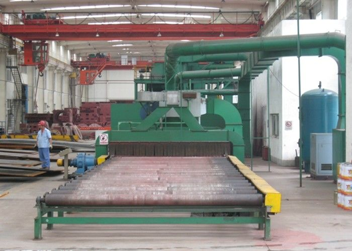 Steel Plate Shot Blasting Machine , Steel Plate Cleaning Machine Rust Removal