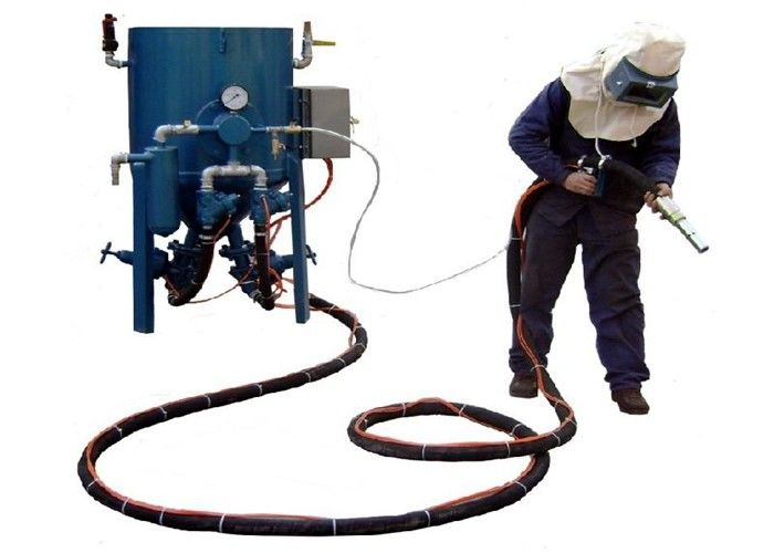 Dry Type Portable Sandblasting Machine With Compressed Air Eco - Friendly