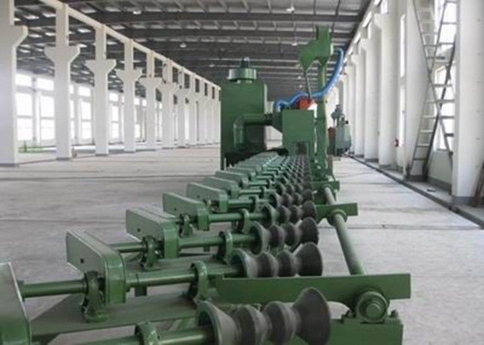 Automatic Cleaning Steel Pipe Shot Blasting Machine Dustless High Performance