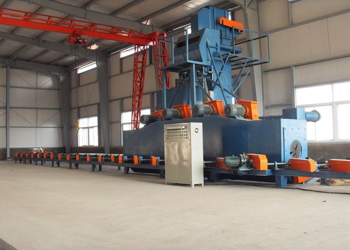 Automatic Steel Pipe Shot Blasting Machine Electric Outside Cleaning