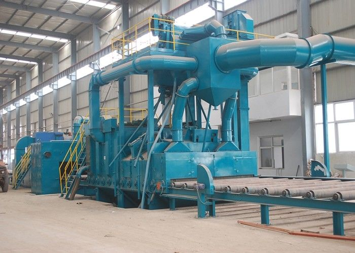 Roller Conveyor Steel Plate Shot Blasting Machine Pretreatment Line Q698